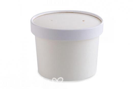 Белая супница 230 мл, d75 мм, h60 мм