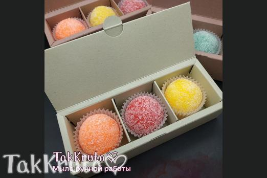 Картонная коробочка под скрабы/конфеты (Цвет: Фисташковый)