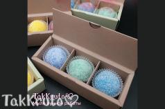 Картонная коробочка под скрабы/конфеты (Цвет: Пудрово-розовый)