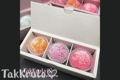 Картонная коробочка под скрабы/конфеты (Цвет: Белый)