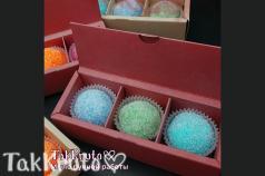 Картонная коробочка под скрабы/конфеты (Цвет: Вишнёвый)