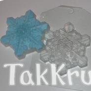 Снежинка кристальная, пластиковая форма