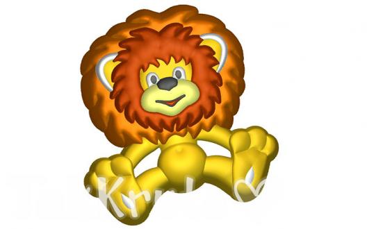 Львенок, пластиковая форма