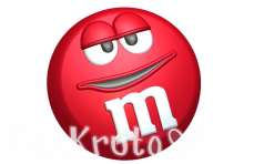 M&Ms красный, пластиковая форма