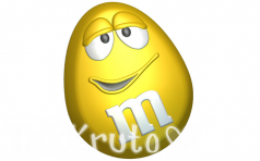 M&Ms желтый, пластиковая форма