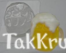 Кружка пива, пластиковая форма