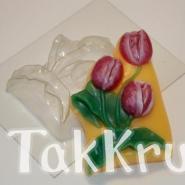Большие тюльпаны, пластиковая форма