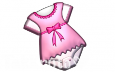 Боди девочка, пластиковая форма