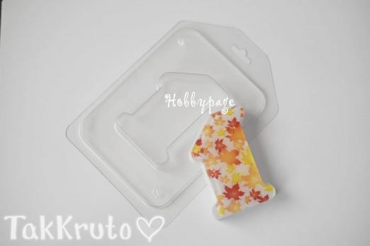 """""""Единичка гладкая"""", форма для мыла пластиковая (HobbyPage)"""