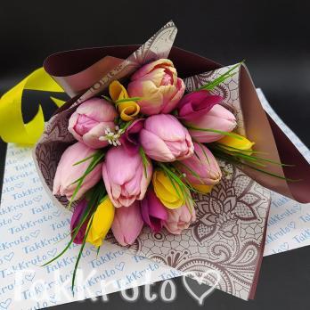 Тюльпаны-микс-9, силиконовая форма