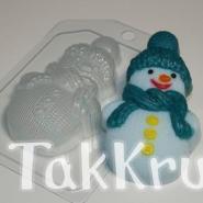 Снеговик вязаный, пластиковая форма