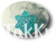 Морозная снежинка, форма для мыла пластиковая