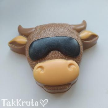 Крутой бык, форма для мыла пластиковая