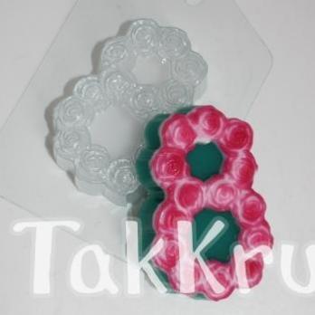 8 марта - Розы, форма для мыла пластиковая