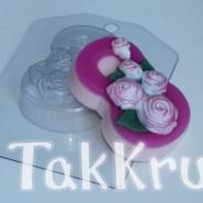 8 марта - Розы по диагонали, форма для мыла пластиковая