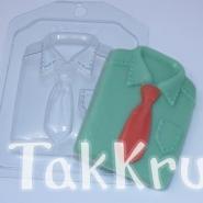 Рубашка, форма для мыла пластиковая
