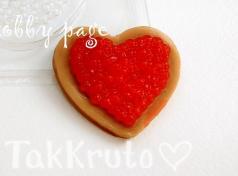 Сердце с красной икрой, пластиковая форма