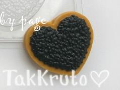 Сердце с чёрной икрой, пластиковая форма