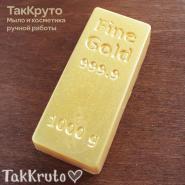Золотой слиток, пластиковая форма