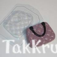 Сумочка в пухлый ромбик, пластиковая форма