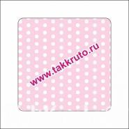 """Подложка в квадратный купол """"Горошки на розовом"""", 10 шт."""