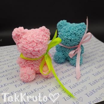 Мишка из роз (TakKruto), силиконовая форма