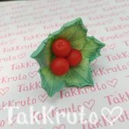 Падуб с ягодками (TakKruto), силиконовая форма