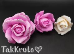 Розы Клио - комплект из 3х форм (TakKruto), силиконовая форма