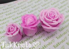 Розы Ди - комплект из 3х форм (TakKruto), силиконовая форма