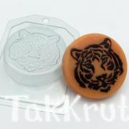Силуэт морды тигра, пластиковая форма