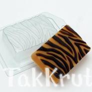 Тигровый окрас, пластиковая форма