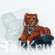 Тигр лежит, пластиковая форма