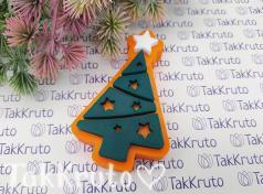 Ёлочка со звёздами (TakKruto), силиконовая форма